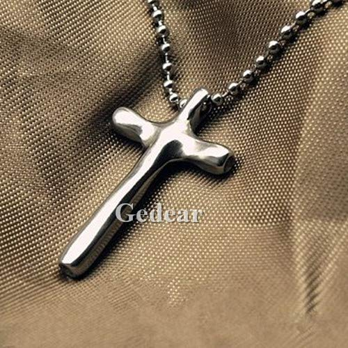 - TIKING Handmade Pure Solid Titanium Cross Pendant with a 600mm Stainless Necklace with Gift Box for Women and Men (Cross Pendant)