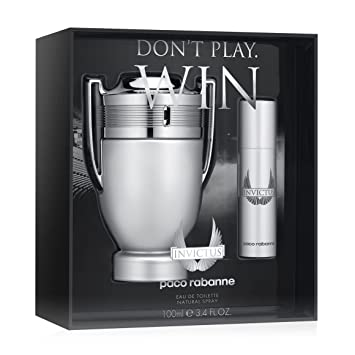 Amazoncom Paco Rabanne Invictus Dont Play Win Fragrance Set 2