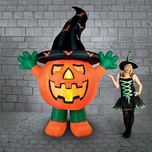 3 M gigante de pie calabaza con sombrero de brujas Halloween ...