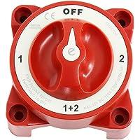 prasku Interruptor Selector de Batería Dual de 4 Vías para Trabajo Pesado para Barco de Pesca RV 1 2 Encendido Apagado…