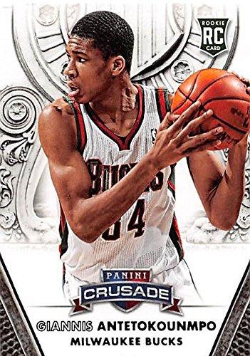 "Giannis Antetokounmpo basketball card (Milwaukee Bucks, ""Greek Freak"") 2014 Panini Crusade #122 Rookie by..."