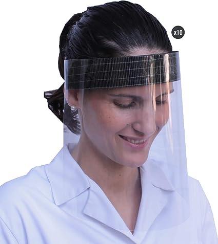 50x=1Einheit Gesichtsschutz-Visier-Maske 1Halterungen mit 3 Folien