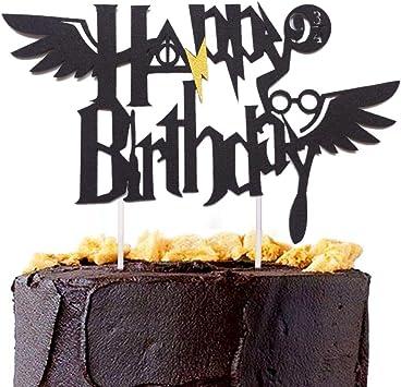 Enjoyable Amazon De Jevenis Wizard Theme Birthday Cake Toppers For Boys Funny Birthday Cards Online Alyptdamsfinfo