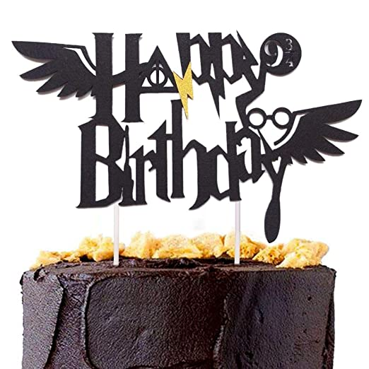 Awyjcas Harry Potter Happy Birthday Banner Party Supplies Happy Birthday Cake Topper Themed Party Decoration