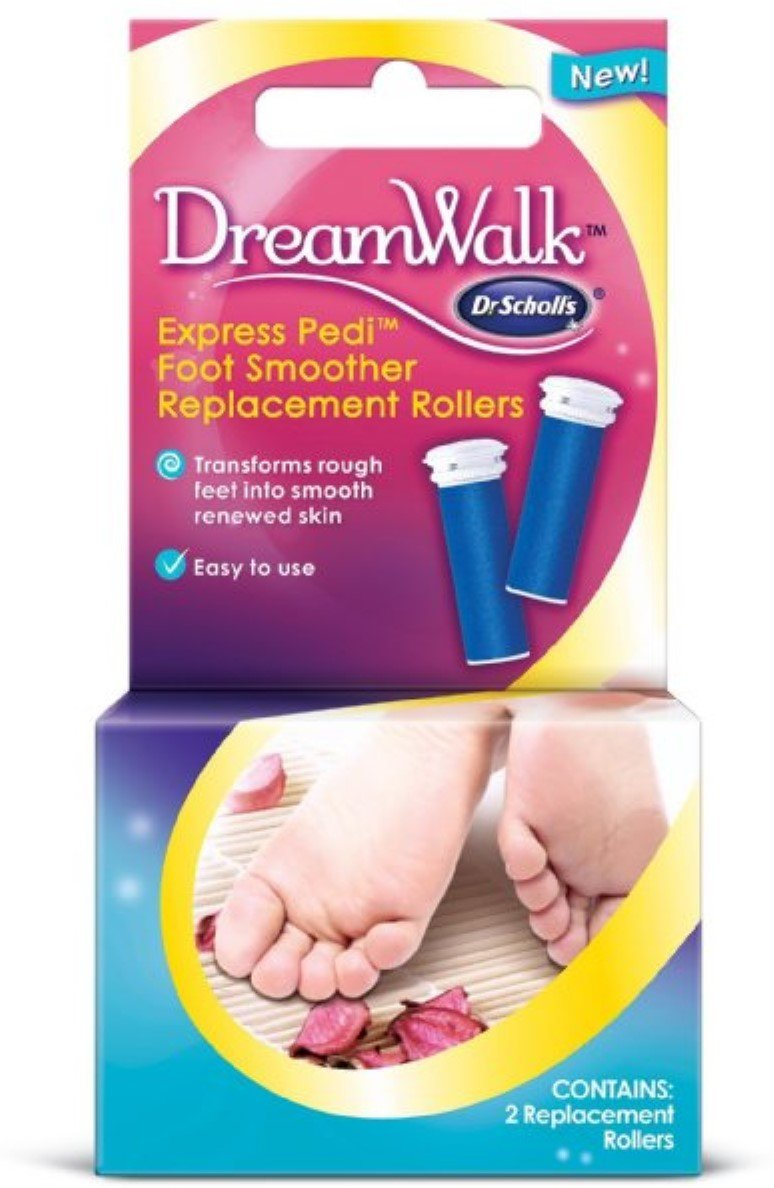 Dr. Scholl's Express Pedi Foot Smoother Replacement Rollers 2 ea (Pack of 3)