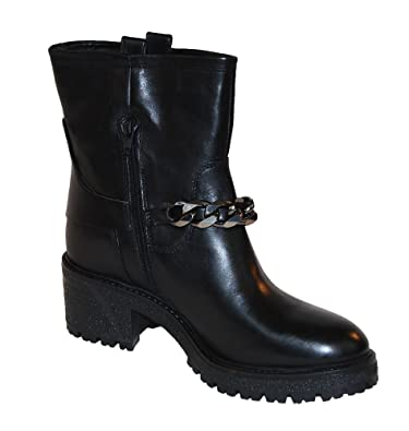 5bf01af8c0de7 Gusto Leather The Lord Nero Leather Ankle Boot Size 6