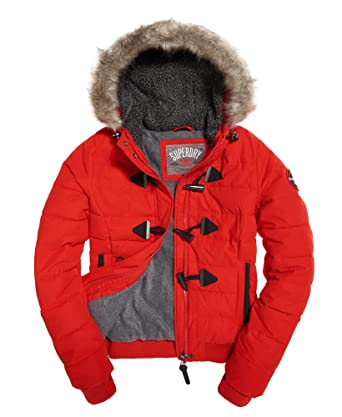 Puffle Superdry Steppjacke Toggle Microfrbe Red Damen Avant VGSMUzpq