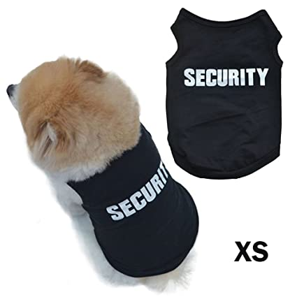 AStorePlus Security Design Dog Vest, Puppy Dog Cat T Shirts Clothes Summer Pets Costumes Apparel