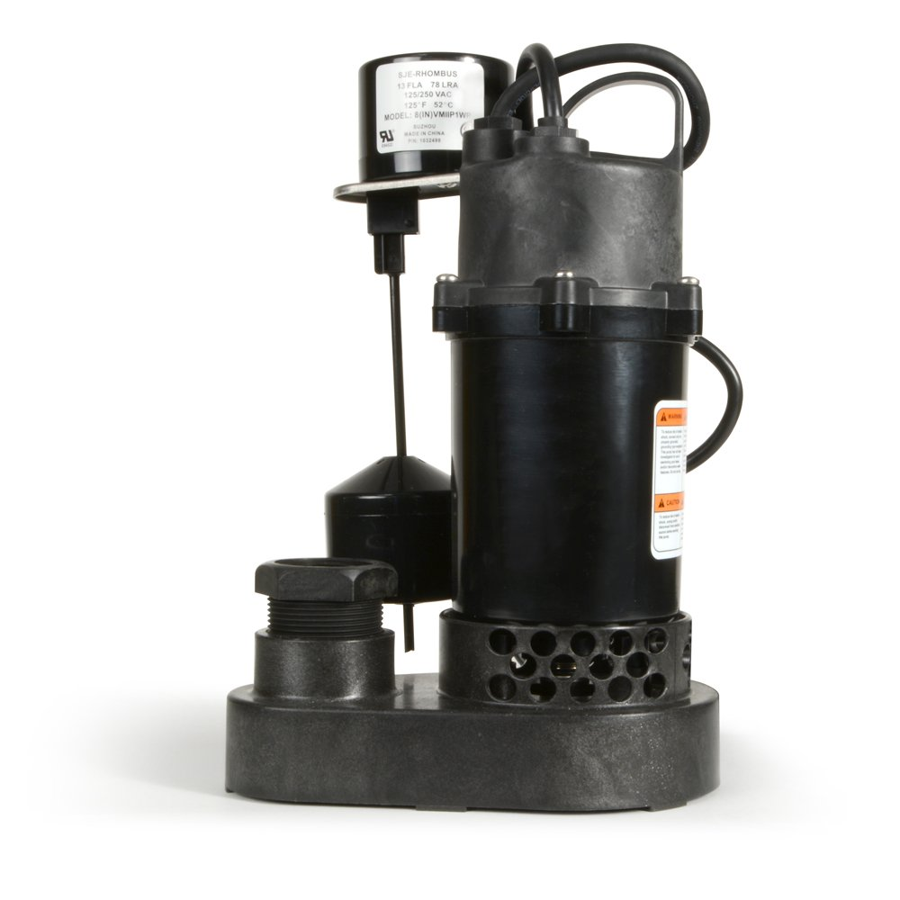 ECO-FLO Products SPP33V Thermoplastic Sump Pump with Vertical Switch, 1/3 HP, 3,600 GPH by ECO-FLO Products (Image #7)