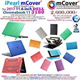 iPearl mCover Hard Shell Case for 2017 11.6 Dell Chromebook 11 3180 series Laptop (NOT compatible with 210-ACDU / 3120 / 3189 series) (Aqua)