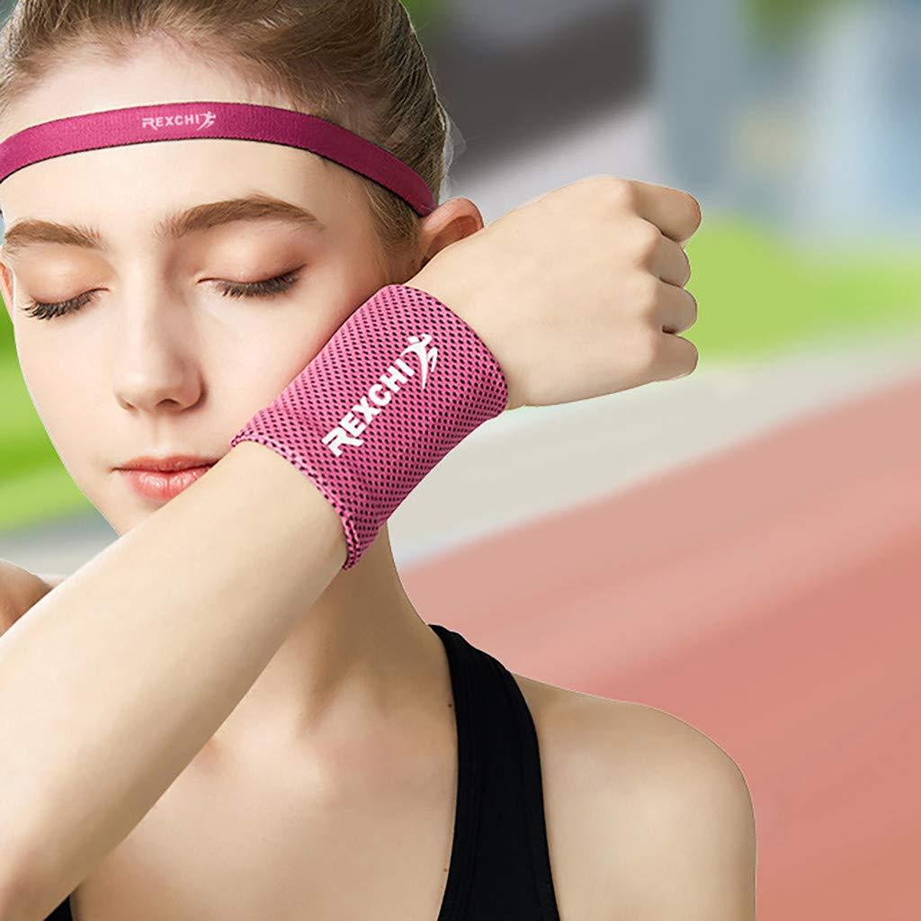 Schwei/ßarmband mit praktischer Rei/ßverschlusstasche Handgelenk f/ür Tennis Fu/ßball Basketball Badminton Fitness Handgelenktasche QIjinlook K/ühlarmband Wristband