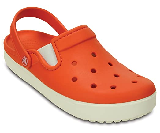 Unisex Citilane Clog Size: 9 D(M) US Mens/11 B(M) US Womens Color Tangerine/White