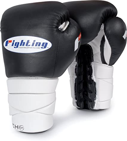 Fighting 12 OZ Fury Professional Lace Training Gloves Red Color