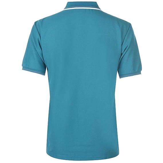 Slazenger Hombre Tipped Camiseta Polo Teal Azul L: Amazon.es: Ropa ...