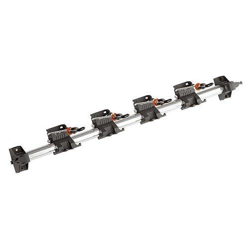 Rack à outils Combisystem de GARDENA : rangement peu encombrant pour appareils ménagers et de jardin, adapté aux appareils et accessoires Combisystem de GARDENA, rail pour fixation murale en aluminium (3501-20)