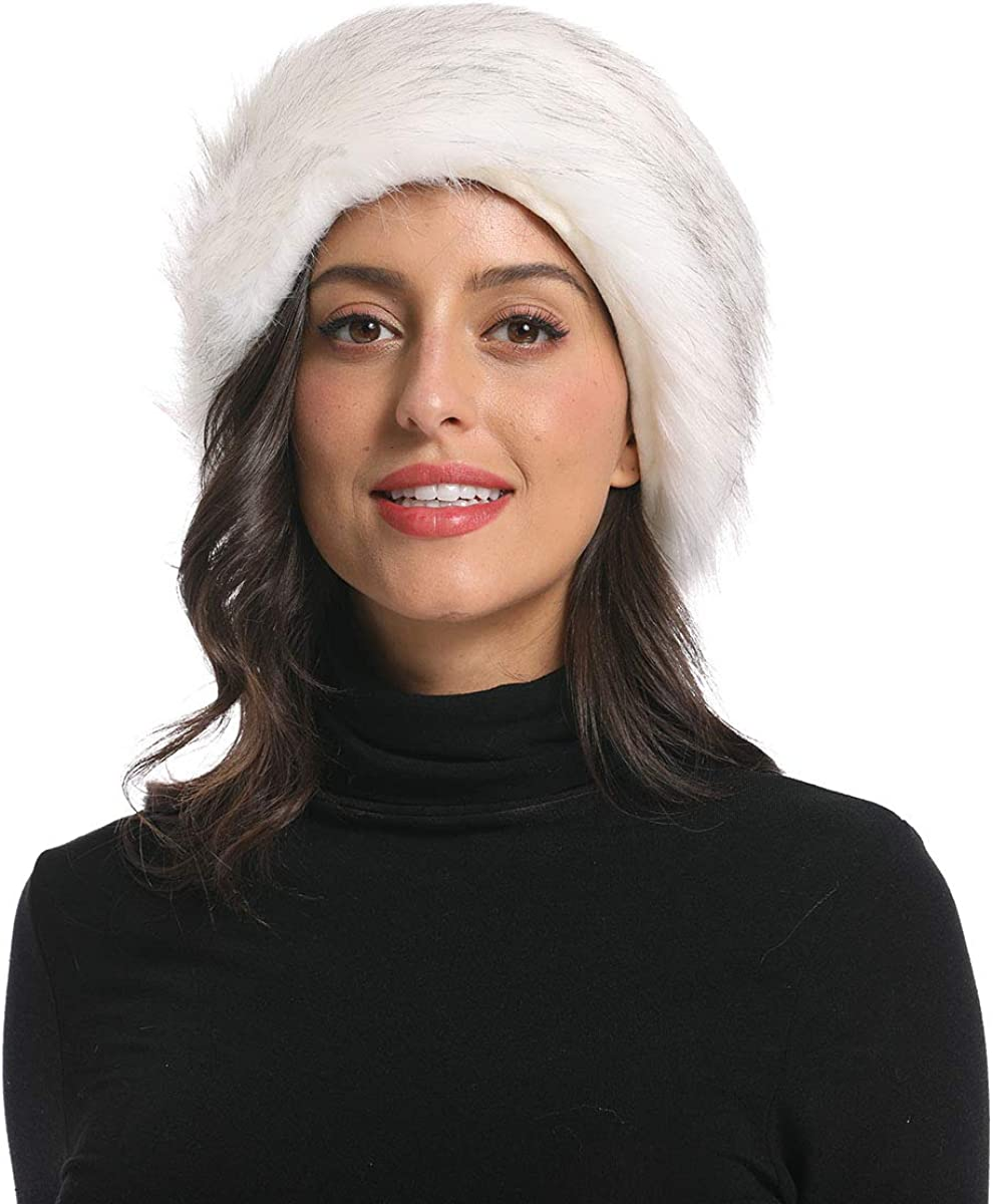Faux Fur Headband With...