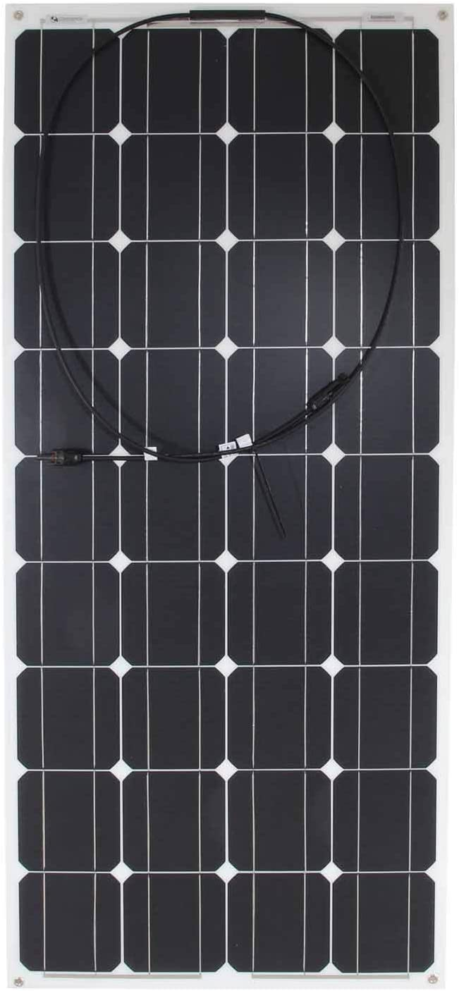 Lowenergie Flexible Solar Panel PV Photo-voltaic Ideal for Caravans Gardens 50W Camping /& Motorhomes Boats Kit