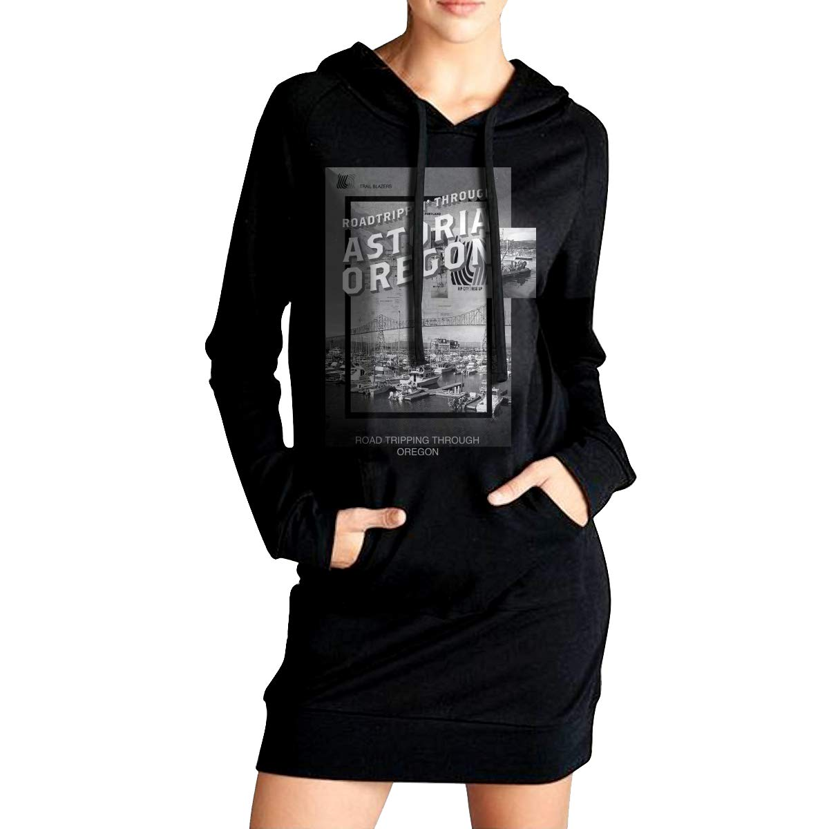 TDYUS DesignName Womens Comfortable Black Sweater With Pocket