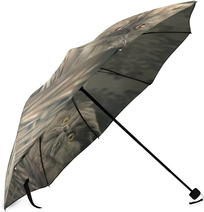 Folding Umbrella Rainproof /& Windproof Umbrella Horse Custom Umbrella