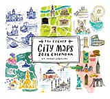2018 12-Month Wall Calendar, City Maps