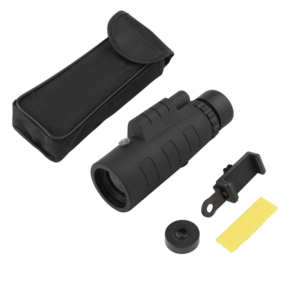 Outdoor Day Night Vision 40X60 1500m/9500m HD Green Film Optical Monocular Telescope with Clip for Hunting Hiking Sport