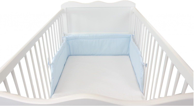 210x30cm Blanco TupTam Protector para Cama de Beb/é Acolchado Cuna 140x70