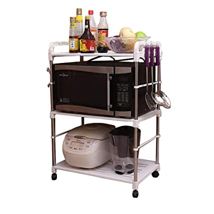 Amazon.com - 3 -Tier PP Rolling Cart Easy Moving, Kitchen ...