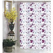 Joanne Violet Floral Print Fabric