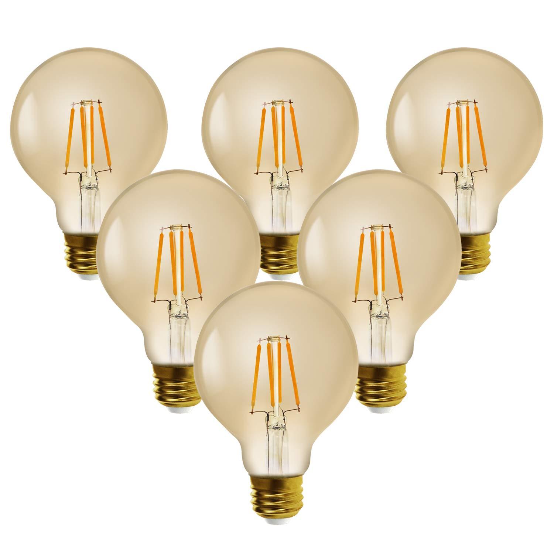 g25 For Light bar ledspirit Lighting Led g80e26 White Bulb soft Edison 7w hotel Bulbs Filament Bulbs Or Dimmable Warm pendant 2500k Chandeliers K1l3FJcT