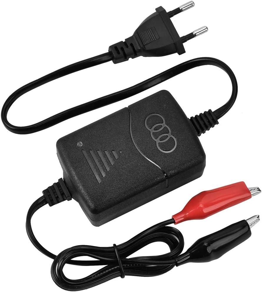 Cargador de Batería 12V 1300 mA con Protecciones Múltiples Inteligente Mantenimiento Automático para Batería de Plomo ácido Sellada de Motocicletas, Coche, Automóviles