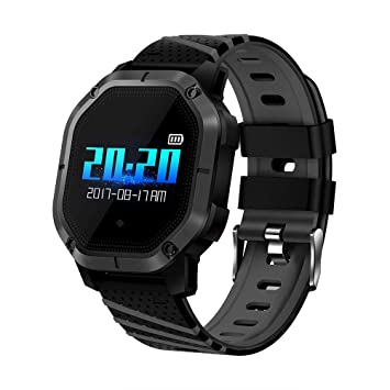 UKCOCO K5 Smart Watch IP68 Impermeable Nadar podómetro Smartwatch Heart Rate Fitness Tracker Reloj de Pulsera para Andriod iOS (Negro): Amazon.es: ...