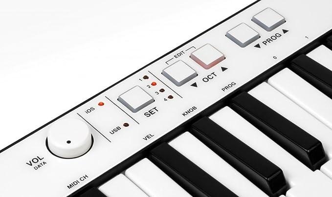 IK Multimedia iRig Teclas de tamaño completo tecla del teclado móvil universal con conector relámpago para el iPhone, iPad, iPod touch, Mac y PC: Amazon.es: ...