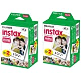 40 sheets Fujifilm Instax mini 9 films white Edge 3 Inch for Instant Camera 7 8 25 50s 70 90 sp-1 sp-2 Photo paper(not include leather bag)
