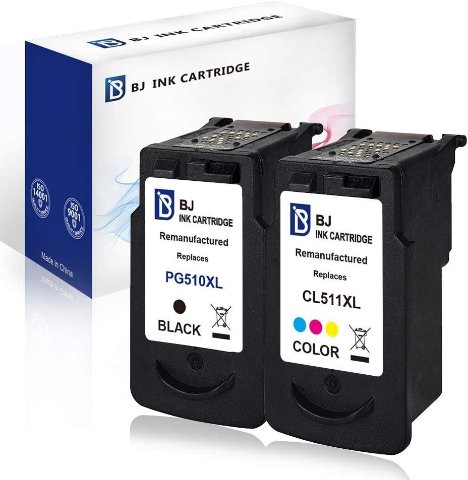 Bj Wiederaufbereitete Ersatz Tintenpatronen Für Canon Pg 510 Cl 511 Hohe Kapazität Kompatibel Mit Canon Pixma Mp495 Mp250 Mp270 Mp280 Mp490 Mp499 Ip2702 Mx350 Mp480 Bürobedarf Schreibwaren
