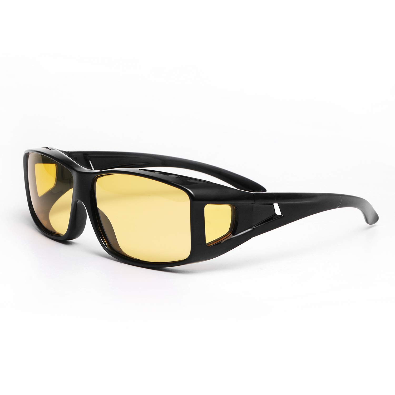 13f2fabfa6638 Amazon.com  Polarized Sports Driving Sunglasses for Men Women (black ...