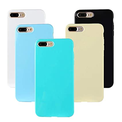 Funluna 5X Funda iPhone 8/7 Plus, Ultra Delgado de Silicona ...