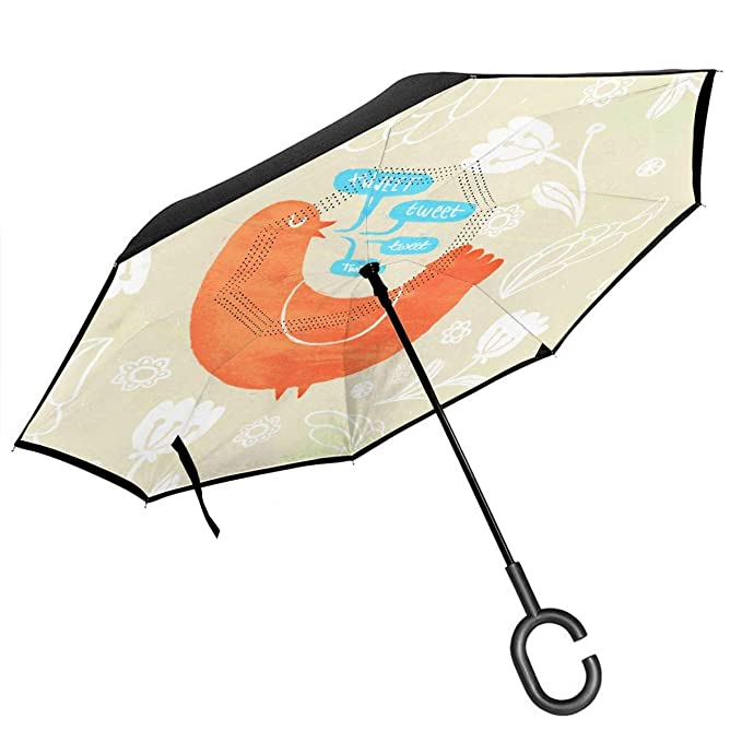 Csiemns Tweet Paraguas invertido invertido al revés con ...