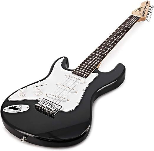 Guitarra Electrica 3/4 Para Zurdos LA + Miniamplificador Black: Amazon.es: Instrumentos musicales