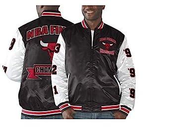 Chicago Bulls de la tripa de la NBA finales Champs conmemorativa satén chaqueta, hombre, rojo / blanco: Amazon.es: Deportes y aire libre