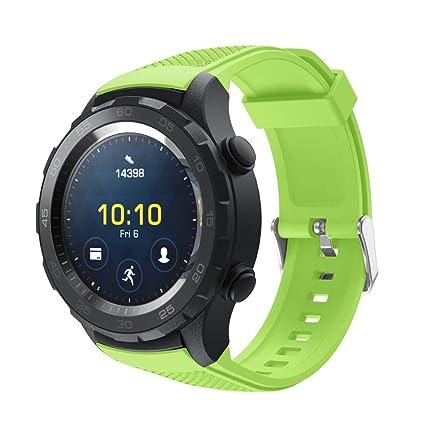 para Smartwatch Huawei Watch 2, Zolimx 20MM Reemplazo Liberación Rápida Correa de Reloj Silicona Hebilla Pulsera para Huawei Watch 2