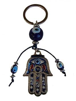 Con diseño de la mano de Fátima azul mal ojos protección ...