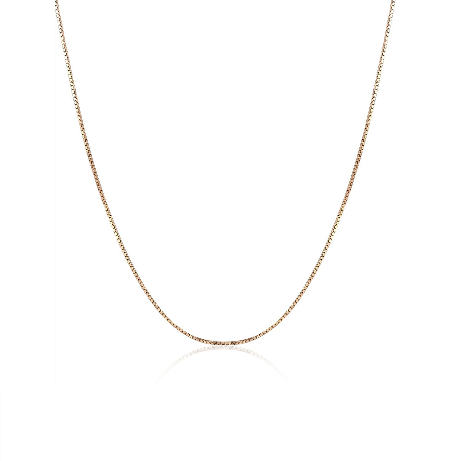 MaBelle 18K Italian Gold Classic Venetian Box Chain Necklace (16, 18) A00881N_KR