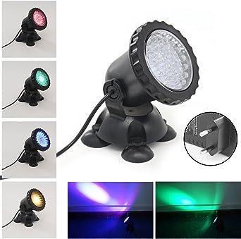 36 LED Fontaine Lampe Aquarium Étang Jardin éclairage de rocaille Bassin lumière