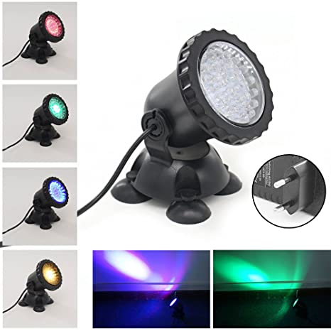 Xcellent Global Foco de 3.5W 36 LED sumergible para acuarios que cambia de color Punto