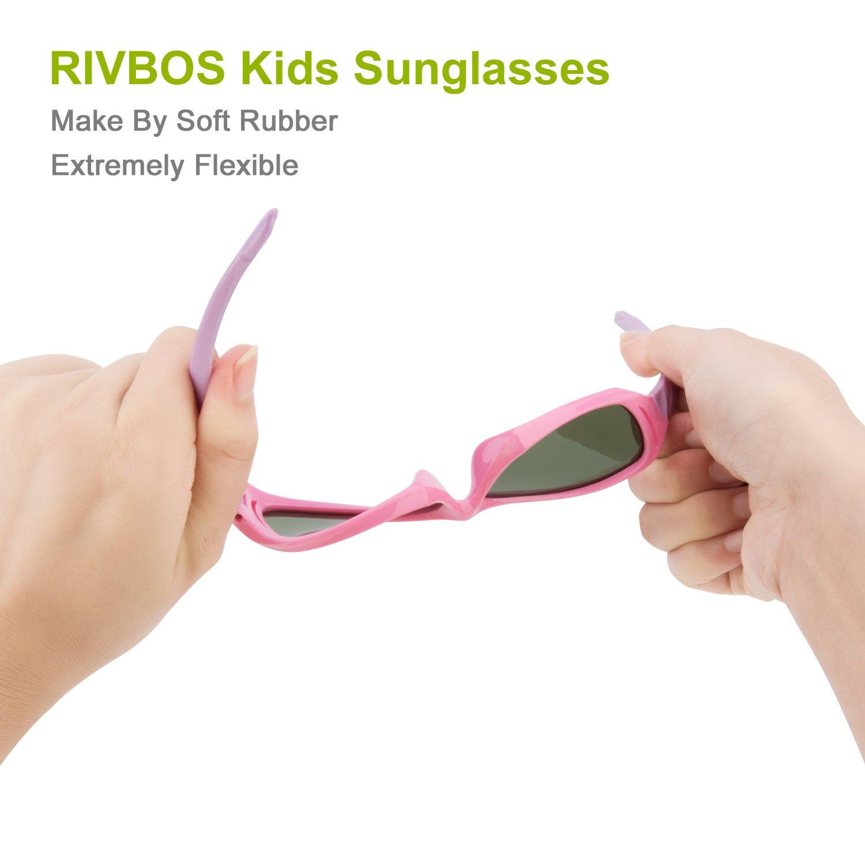 RIVBOS - Gafas de Sol polarizadas Unisex Niños Niños: Amazon ...