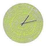 Whitehall 16'' End Grain Clock Agn/Silver - 02180