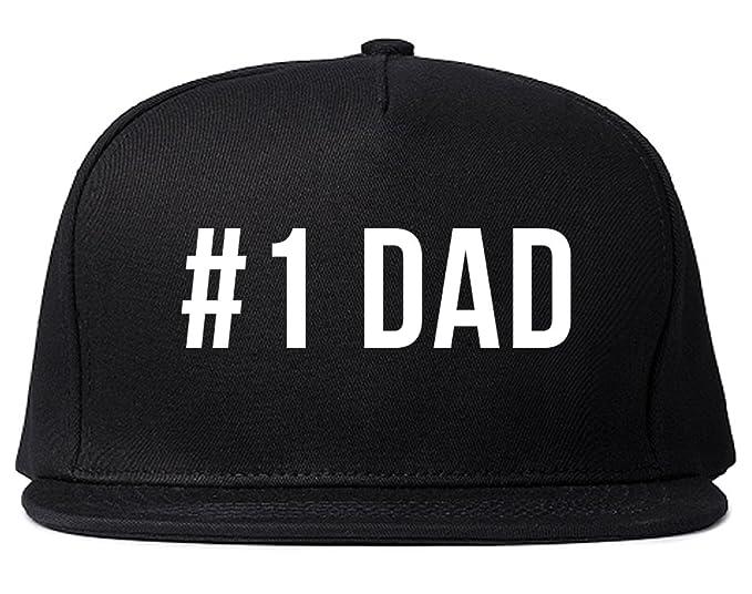 b42b1fc6 Number One 1 Dad Dad Hat Snapback Hat Cap Black