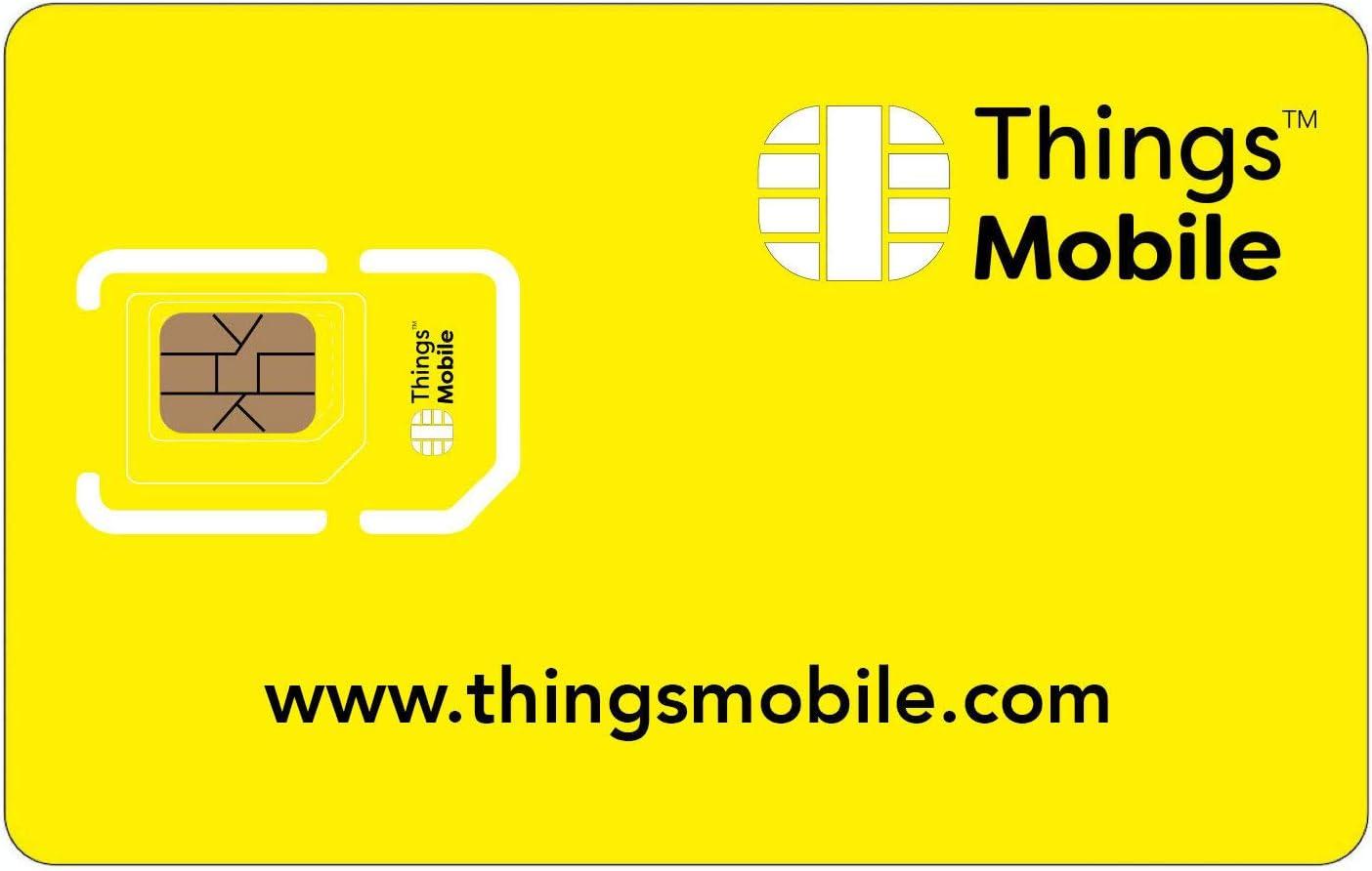 Tarjeta SIM Things Mobile de Prepago para IOT y M2M con Cobertura Global sin costos fijos. Ideal para domótica, rastreadores GPS, telemetría, alarmas, smart city, automotive. Crédito incluido.
