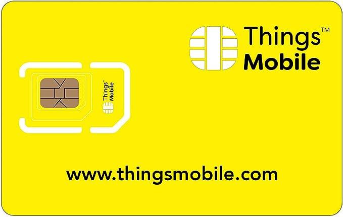 Tarjeta SIM Things Mobile de Prepago para IOT y M2M con Cobertura Global sin costos fijos. Ideal para domótica, rastreadores GPS, telemetría, alarmas, smart city, automotive. Crédito incluido.: Amazon.es: Electrónica
