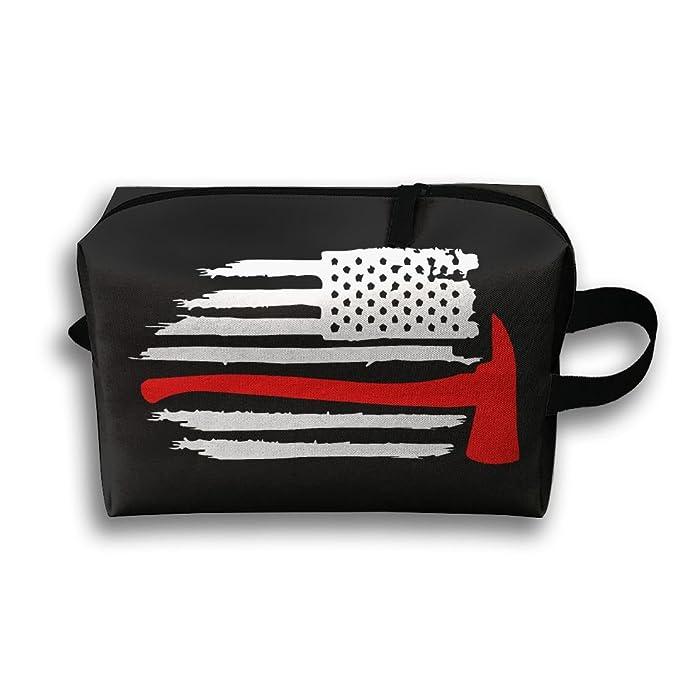 Amazon.com: Bandera Americana bombero de aseo Bolsa de viaje ...